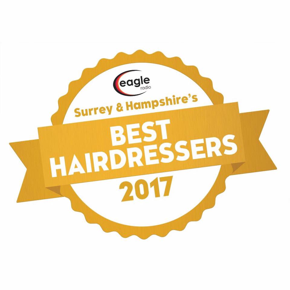 We are WINNERS of 'Best Hairdresser in Surrey & Hampshire'