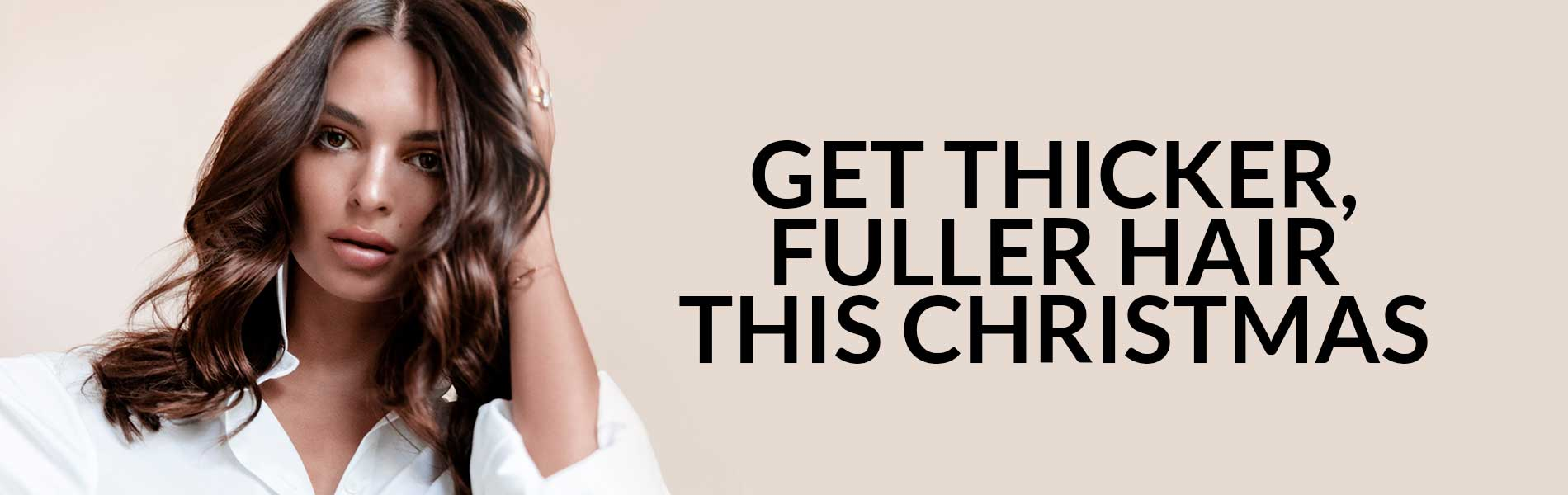 Get Thicker Fuller Hair This Christmas banner