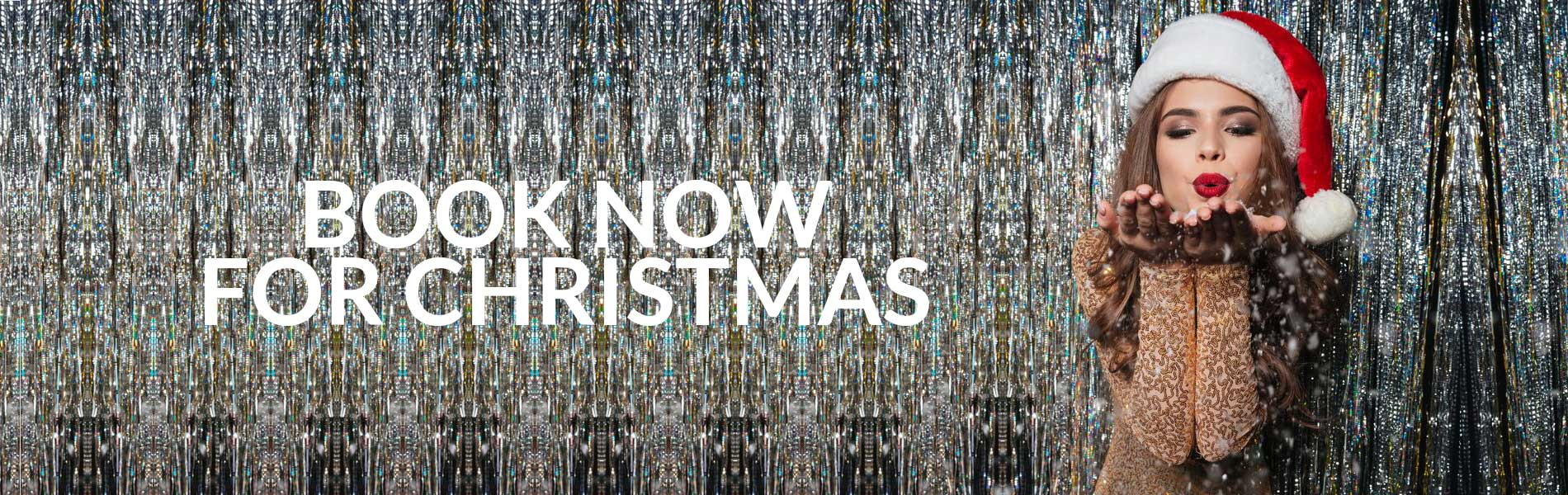 Book Now for Christmas banner