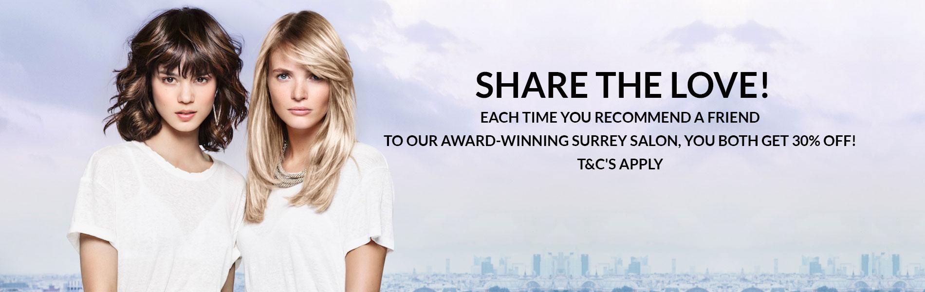best salon offers Surrey, hair discounts Surrey