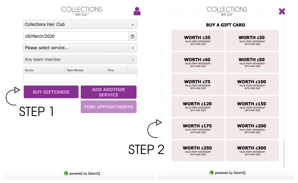 Collections Gift Card Online